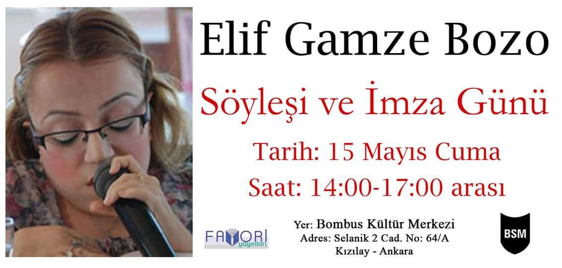 Elif Gamze Bozo-Söyleşi ve İmza Günü